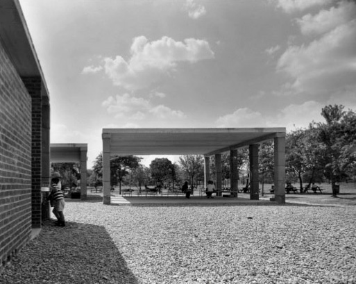 Day Camp Pavilions are completed. Kahn's final concept for the site is never realized.