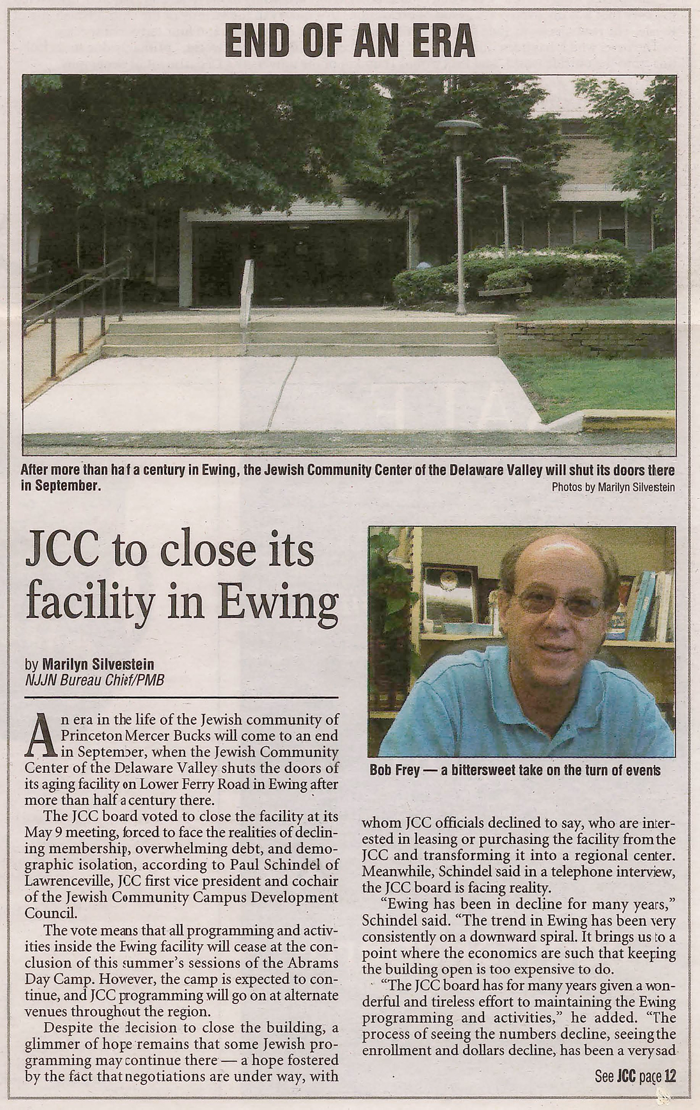 The JCC announces plans to move from Ewing to West Windsor.